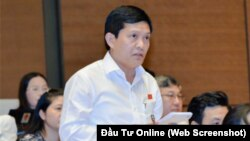Đại biểu Quốc hội Phạm Phú Quốc. Screenshot từ trang Đầu Tư online.