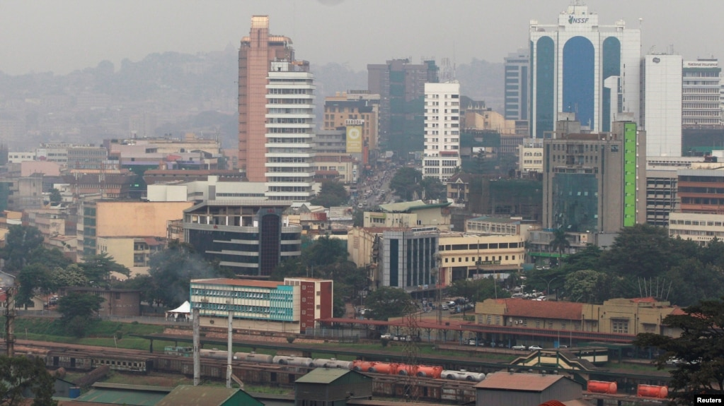FILE - A general view shows the capital city of Kampala in Uganda, July 4, 2016.