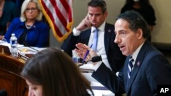 FILE - In this July 27, 2021, photo Rep. Jamie Raskin, D-Md., speaks during the House select committee hearing on the Jan. 6 attack on Capitol Hill in Washington.