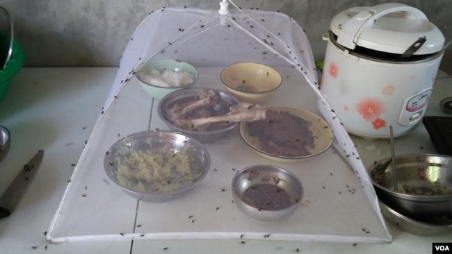 2) 中國員工自己準備的飯菜