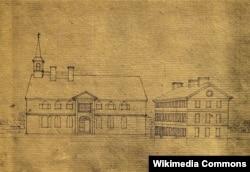 스위스 철학자그린피에르 두 시미테에르가 1780년에 그린 '필라델피아대학교(College of Philadelphia)'