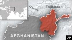 Peta Afghanistan utara.