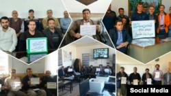 معلمان و فرهنگیان روز دوشنبه ۲ دی ماه در شهرهای مختلف ایران تجمع کردند.