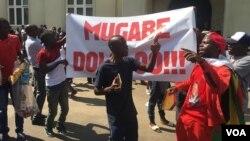 Izizalwane zeZimbabwe ezitshengisele ezitaladini zithabele okwenziwe nguMugabe.