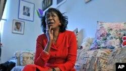 Shangazi wa rais Barack Obama Zeituni Onyango wakati wa uhai wake huko Boston.