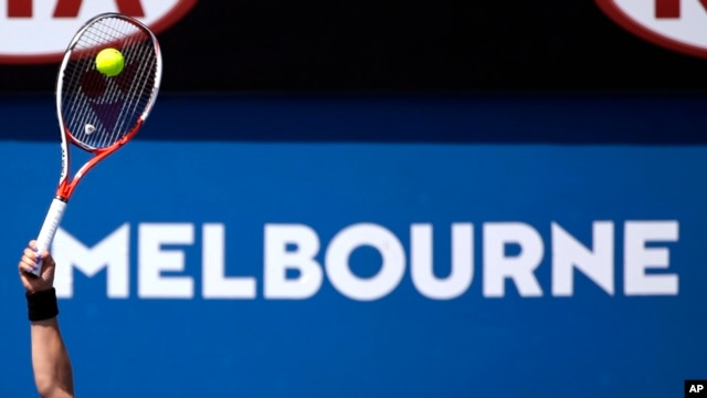 A first-round match is played at the Australian Open tennis championships in Melbourne, Australia, Jan. 18, 2016. World tennis was rocked Monday by allegations that the game's authorities have failed to deal with widespread match-fixing.