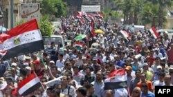 Biểu tình ở Ai Cập phản đối chính phủ và các nhà lãnh đạo quân đội