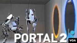 Todo lo que entra por el portal azul sale por el portal naranja, una mecánica simple que ofrece puzles muy originales.