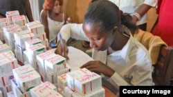 A worker sorting out HIV-AIDS Medicine. (File photo)