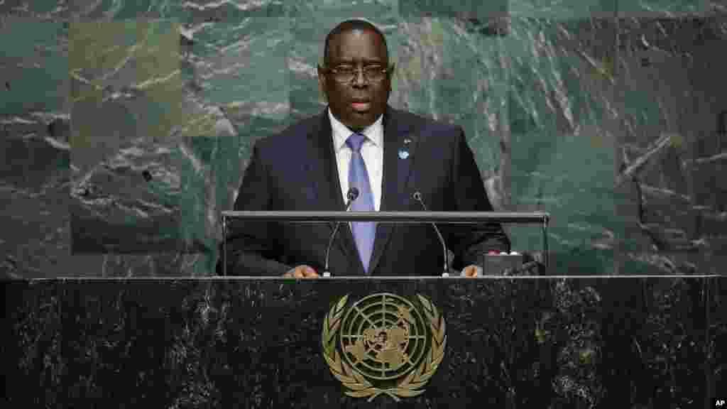 President of Senegal Macky Sall.
