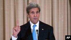 존 케리 미국무장관이 3일 워싱턴 국무부 청사에서 열린 행사에서 발언하고 있다. (자료사진)