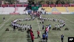 مراسم ورزشی در ستدیوم کابل