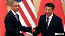 美國總統奧巴馬與中國國家主席習近平