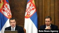 Premijer Srbije Ivica Dačić predstavlja izveštaj o radu Vlade u prvih 100 dana.