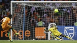 Mchuano kati ya Ivory Coast na Zambia katika fainali za mwaka 2012.