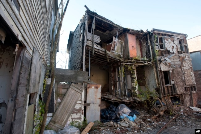 This photo taken on Nov. 4, 2009 shows the back of the Mary and Eliza Freeman houses, Connecticut's oldest African-American houses in Bridgeport, Conn.
