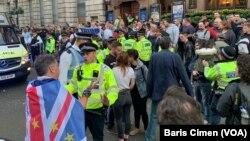 Manifestation à Londres contre l'assassinat de Jamal Khashoggi, le 15 octobre 2018.