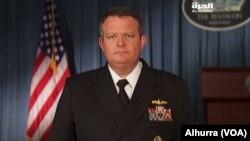 Juru bicara Pentagon Kapten Angkatan Laut Jeff Davis mengumumkan dihentikannya usaha pencarian seorang pelaut AS yang hilang di Laut China Selatan (foto: dok).