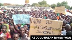 L'opposition défile à Niamey, au Niger, le 1er novembre 2015.