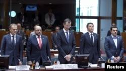 4月23日欧盟在布鲁塞尔举行紧急会议静默一分钟向葬身地中海的移民致哀