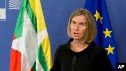 ဥေရာပ သမဂၢရဲ႕ ႏုိင္ငံျခားေရးရာ မူ၀ါဒဆိုင္ရာ အႀကီးအကဲ Federica Mogherini