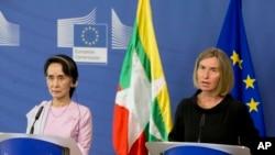 ေဒၚေအာင္ဆန္းစုၾကည္ - EU သတင္းစာ ရွင္းလင္းပြဲ