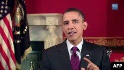 Tổng thống Hoa Kỳ Barack Obama trong bài phát biểu hàng tuần, ngày 22 tháng 1, 2011