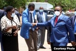 USikhwicamfundo Solwayo Ngwenya loRetired General Constantino Chiwenga. (Courtesy Image)