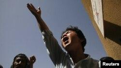 Šiitski musliman protestuje zbog ubistva rođaka u pakistanskom gradu, Kveti