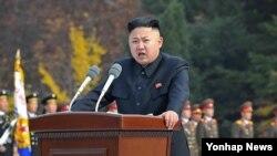 ທ່ານ Kim Jong Un ຜູ້ນໍາເກົາຫຼີເໜືອ ຂະນະປະກາດແຕ່ງຕັ້ງຫົວໜ້າ ປ້ອງກັນປະເທດຄົນໃໝ່