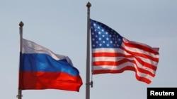 Zastave Rusije i Sjedinjenih Država