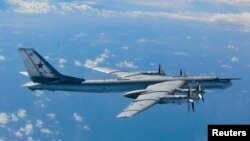 روسی ٹی یو 95 بمبار طیارہ (فائل)