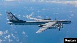 Một chiếc máy bay ném bom chiến lược Tu-95 của Nga (Ảnh tư liệu.)