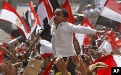 埃及人民抗议 (资料照片)