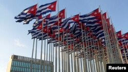 쿠바 아바나의 미국 이익대표부 건물 (자료사진)