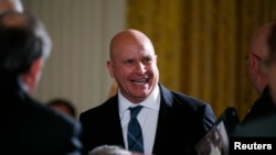 FILE - National Security Adviser H.R. McMaster attends a ceremony in the East Room of the White House in Washington, Oct. 23, 2017.