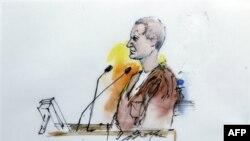 Jared Loughner'ın duruşma salonundaki portresi