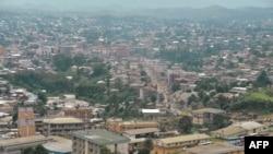 Bamenda, capitale de la région anglophone du Nord-Ouest. Cameroun, 16 juin 2017.