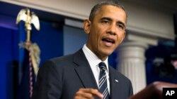 9月27日,美國總統奧巴馬敦促國會眾議院通過一項預算,保持政府運作。