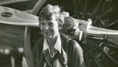 Image result for amelia earhart became the first woman to fly solo across pacific