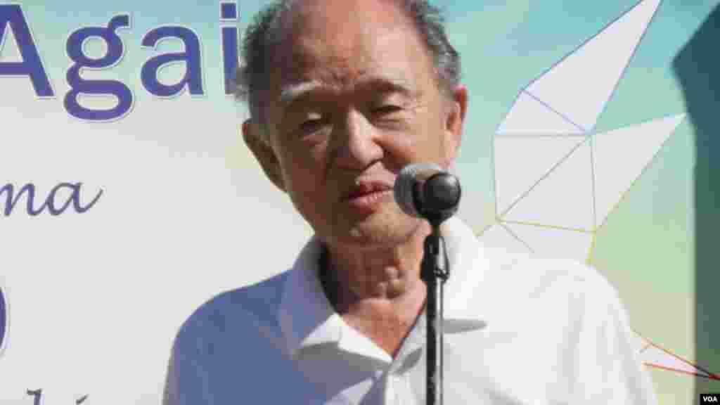 86岁的广岛幸存者讲话(美国之音国符拍摄)