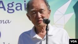 86歲的廣島倖存者講話(美國之音國符拍攝)