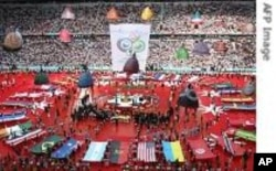 Opening ceremony at a recent World Cup football tournament