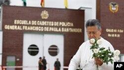 """EE.UU. condenó enérgicamente el ataque contra la academia de policía General Francisco De Paula Santander"""", en la que fallecieron 21 personas, en su mayoría jóvenes cadetes."""