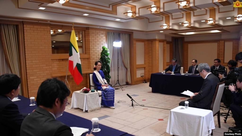 ုႏိုင္ငံေတာ္ အတိုင္ပင္ခံ ပုဂၢိဳလ္ ေဒၚေအာင္ဆန္းစုၾကည္။ (Source - Myanmar State Counselor Office )