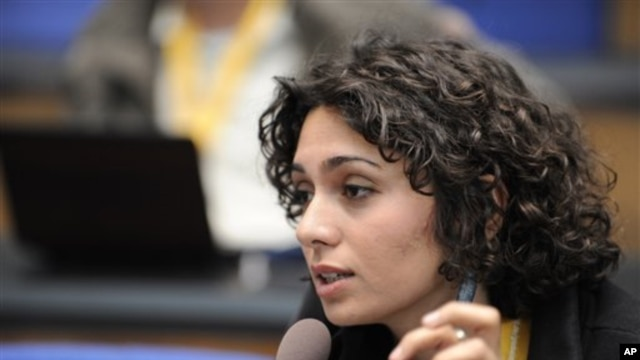 Iranian actress and blogger Pegah Ahagarani, (file), was recently released from prison.
