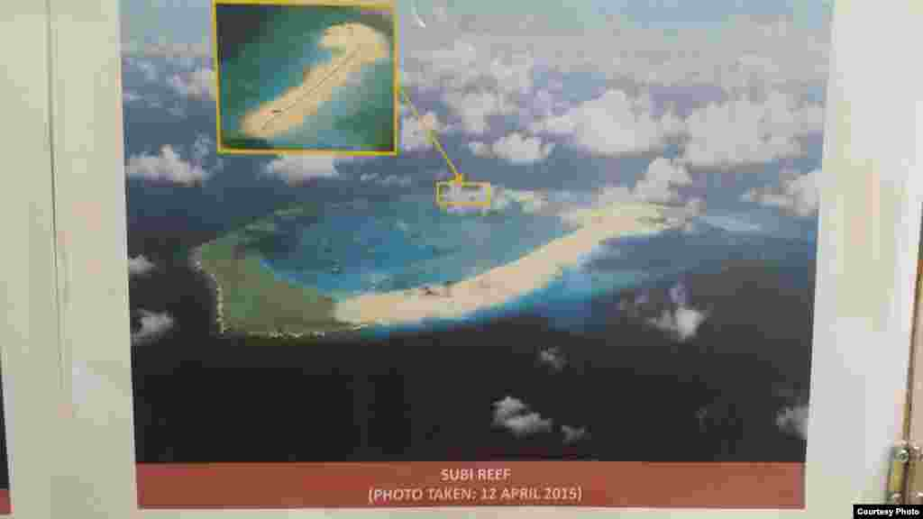 Philippine military's images of China's reclamation in the Spratlys, Subi Reef, April 12, 2015. (Armed Forces of the Philippines)