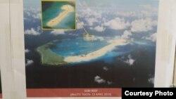 Ảnh bãi Đá Subi thuộc quần đảo Trường Sa đang bị Trung Quốc bồi đắp cải tạo (Ảnh của quân đội Philippines)