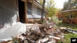 Des dégats provoqués par deux séismes dans l'Oklahoma, où le ''fracking'' aurait accéléré les secousses (AP Photo/Sue Ogrocki,File)