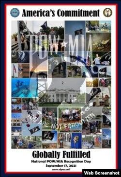 DPAA kỷ niệm Ngày Quốc gia tưởng nhớ POW/MIA 17/9/2021.